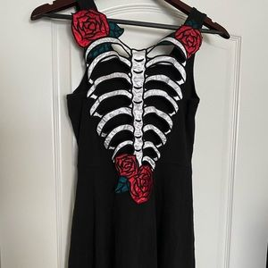 Hell bunny skeleton dress